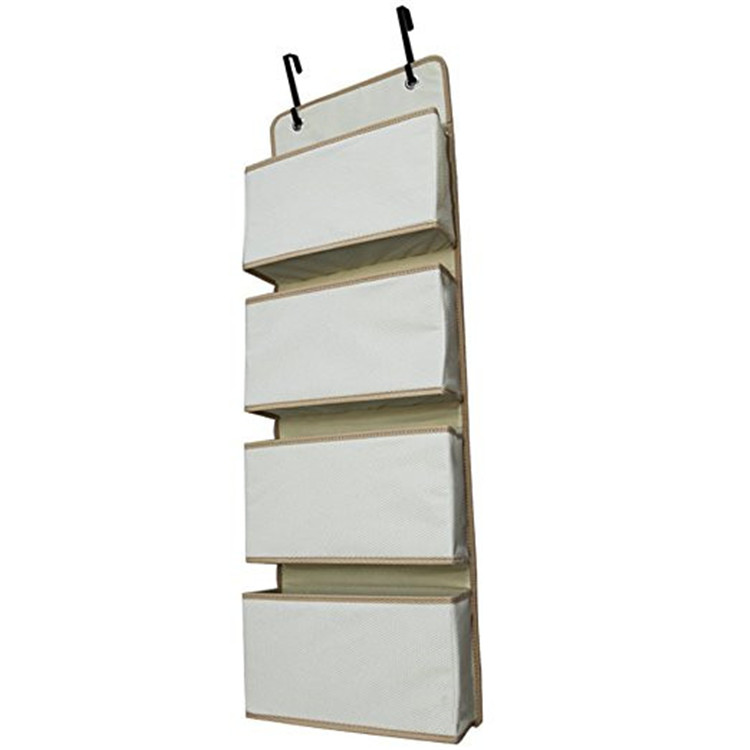 Hanging Wall File Storage Organizers with 4 Pockets