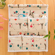 Cotton Linen Foldable Hanging Home Organizer