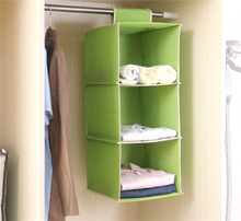 Non-woven Material Foldable Hanging Closet Organizer with Compartment
