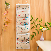 Foldable Wall Cotton Hanging Pocket Organizer